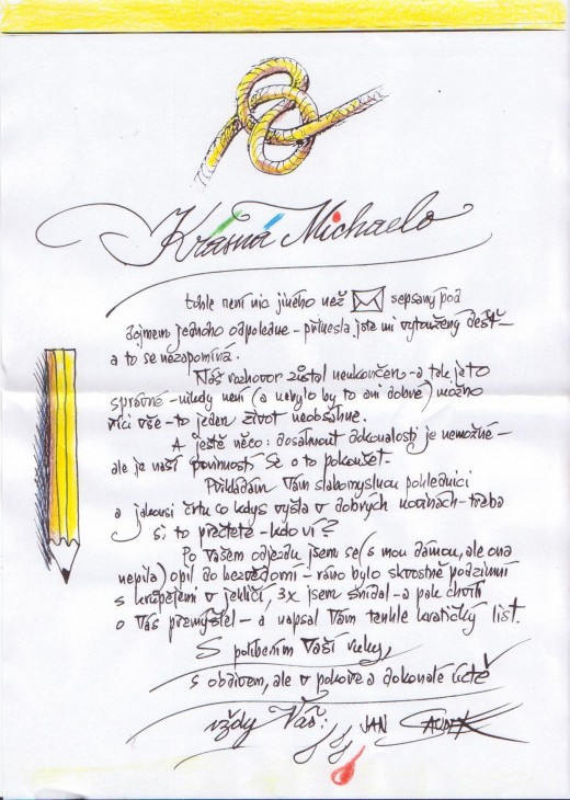 dopis od Jana Saudka