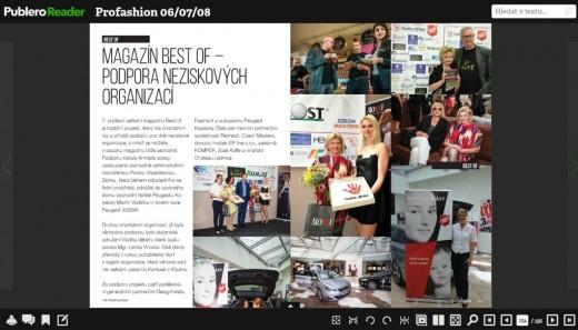 mediální výstup v magazínu ProFashion