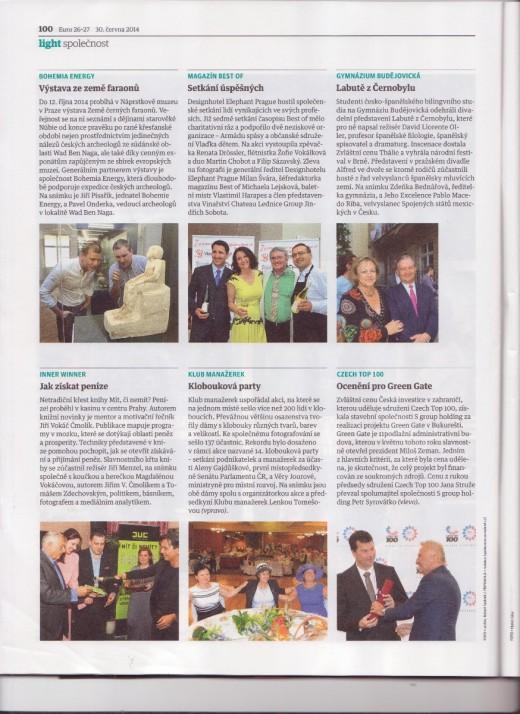 mediální výstup v týdeníku EURO 30.6.2014