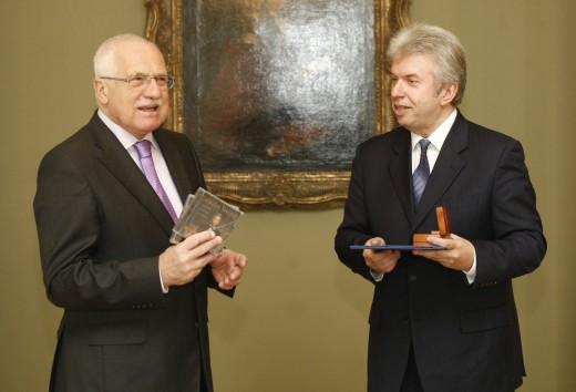 Jaroslav Svěcený a Václav Klaus