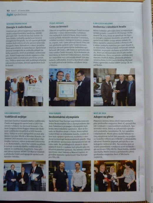Reportáž z časopisu EURO