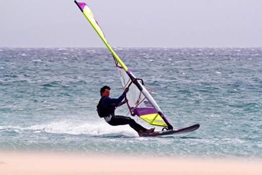rychlostní windsurfing na Tarifě (Španělsko),autor: M. Práši
